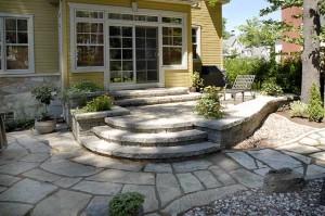 Patio et Terrasse en pierres naturelles Laurentides