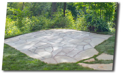 patio de pierre naturelle